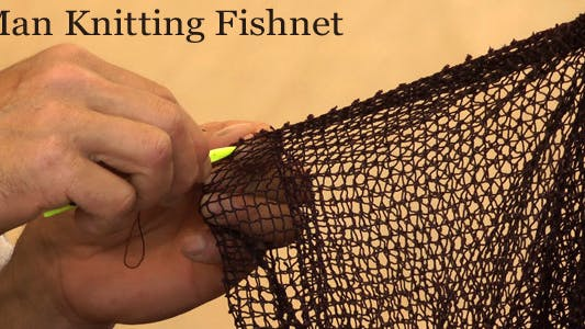 Thumbnail for Man Knitting Fishnet