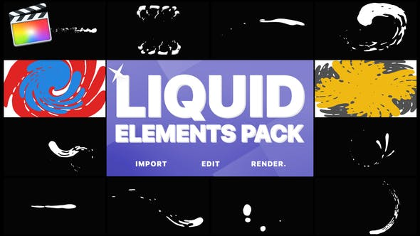 Thumbnail for Liquid Elements And Transitions | FCPX