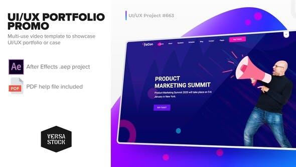 Thumbnail for UI/UX Portfolio Promo
