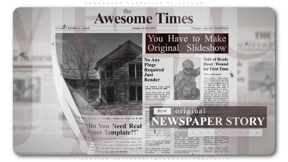 Thumbnail for Newspaper Narrative Slideshow