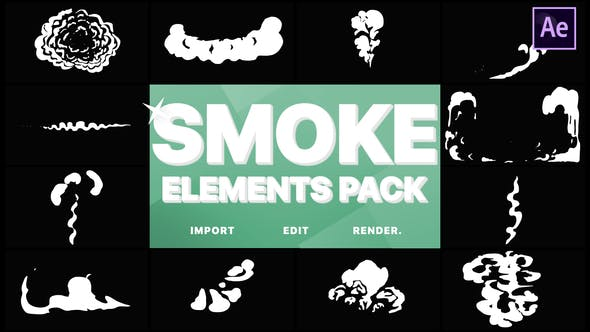 Thumbnail for Cartoon Smoke Elements | After Effects