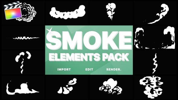 Thumbnail for Cartoon Smoke Elements | FCPX
