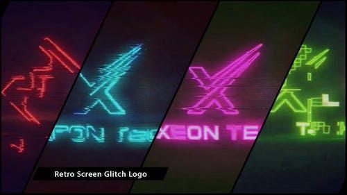 Retro Screen Glitch Logo