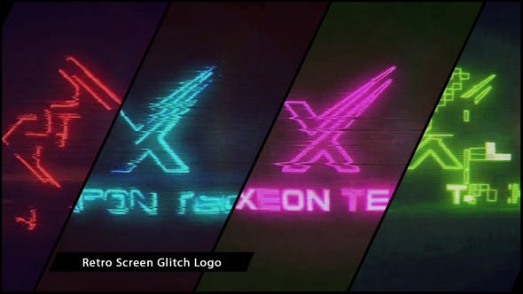 Thumbnail for Retro Screen Glitch Logo