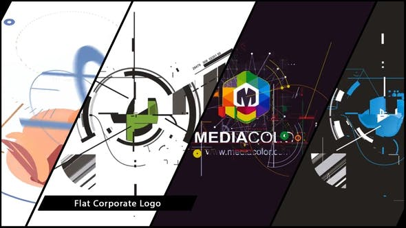 Thumbnail for Flat Corporate Logo V03 Designer