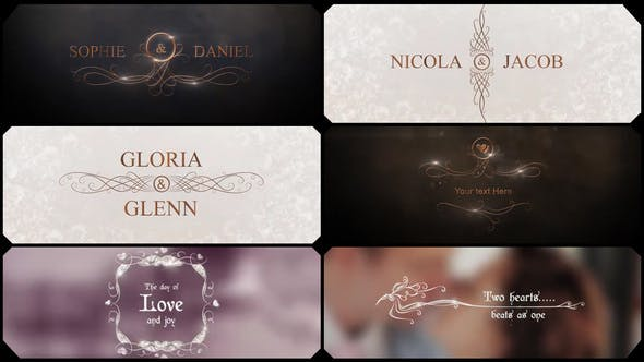 Thumbnail for Glamour Wedding Titles