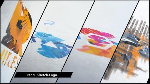 Chalk and Pencil Sketch Logo