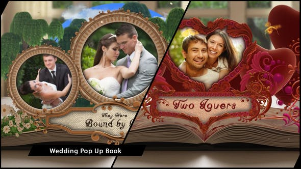 Wedding Album Pop up Book
