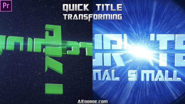 Thumbnail for Quick Title Transforming (Mogrt)
