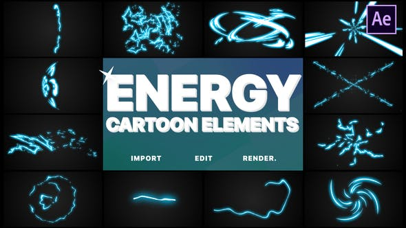 Cover Image for Cartoon Energy Elements | After Effects