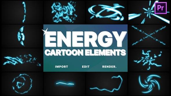Thumbnail for Cartoon Energy Elements | Premiere Pro MOGRT