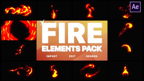 Thumbnail for Fire Elements | After Effects