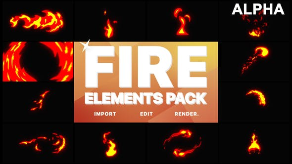 Thumbnail for Fire Elements | Motion Graphics Pack
