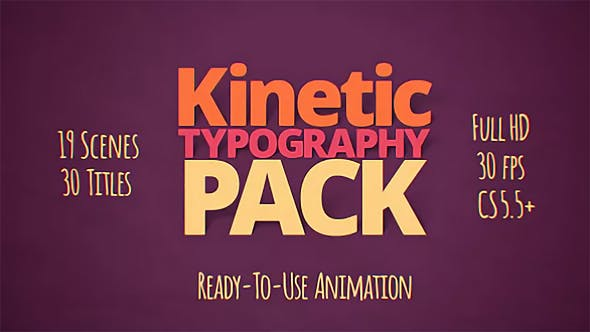 Thumbnail for Kinetic Typography Pack