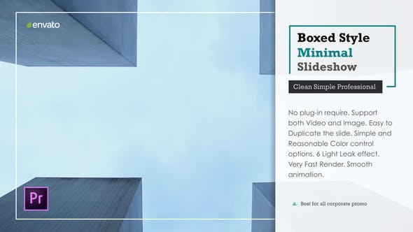 Thumbnail for Boxed Minimal Slideshow – Premiere Pro