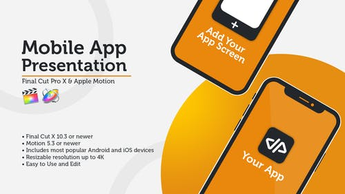 New Mobile App Presentation - iOS & Android - Final Cut Pro X