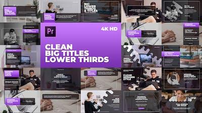 Clean Big Titles Lower Thirds – Mogrt