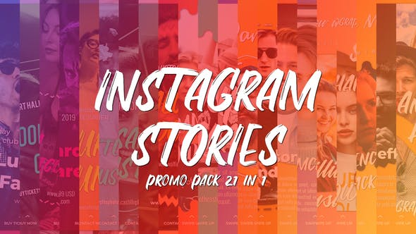 Thumbnail for Instagram Stories Promo Pack 21 in 1