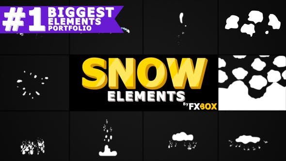Thumbnail for Cartoon Snow Elements | Premiere Pro MOGRT