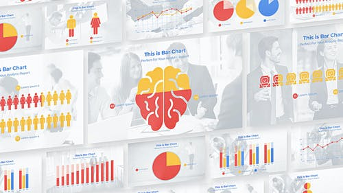 Flat Charts and Diagrams for Business