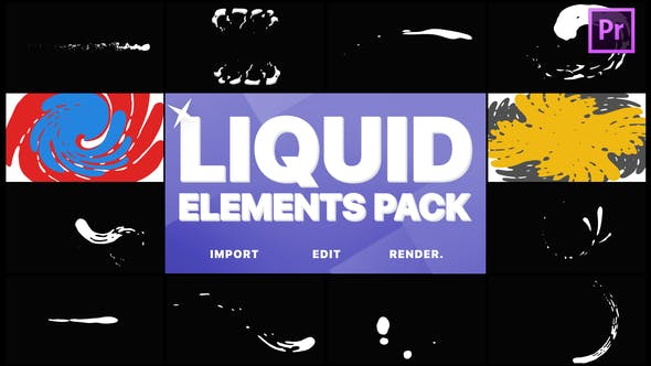Cover Image for Liquid Elements And Transitions | Premiere Pro MOGRT