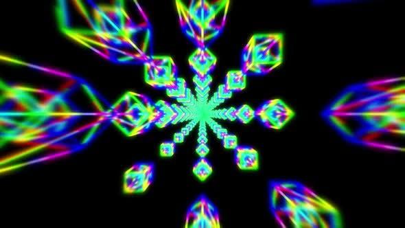Hypnotic Mandala Kaleidoscope Pattern Tunnel