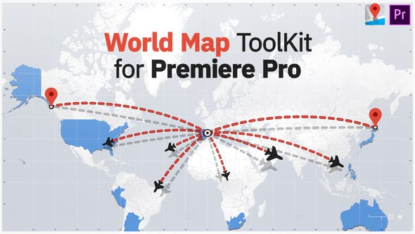 Thumbnail for World Map ToolKit for Premiere Pro