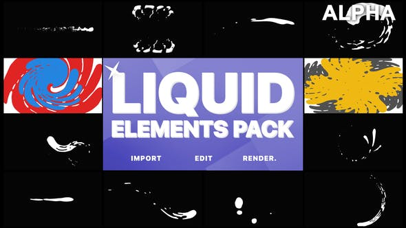 Thumbnail for Liquid Elements And Transitions | Motion Graphics Pack