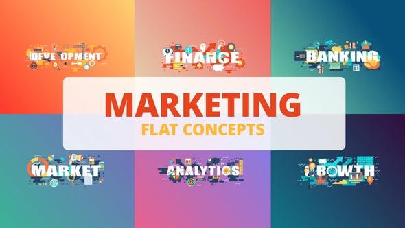Marketing - Typography Flat Concept