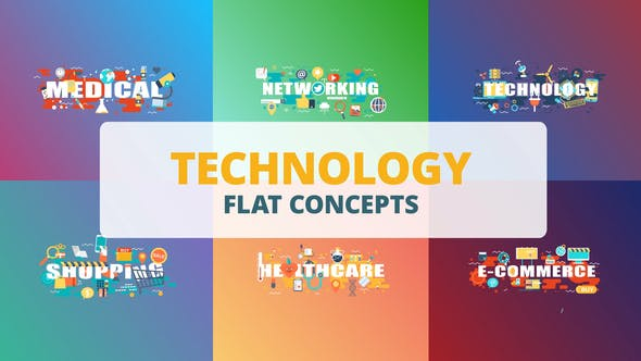 Thumbnail for Technology - Typography Flat Concept