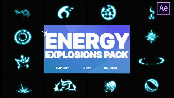 Thumbnail for Energy Explosion Elements | After Effects