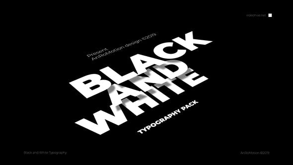 Cover Image for Black And White - Titles And Typography