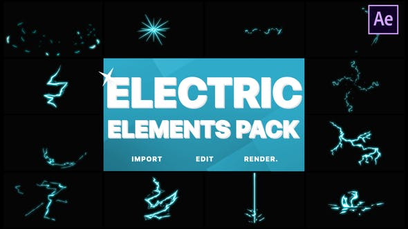 Thumbnail for Electric Elements | Premiere Pro MOGRT