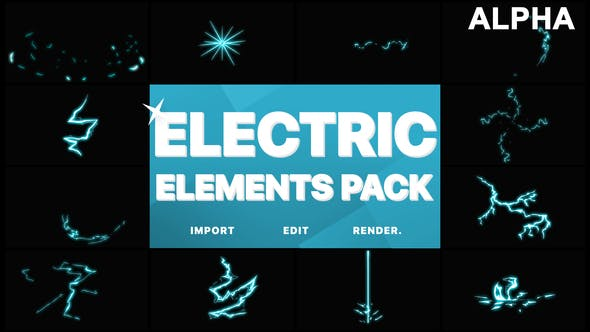 Electric Elements   Motion Graphics Pack