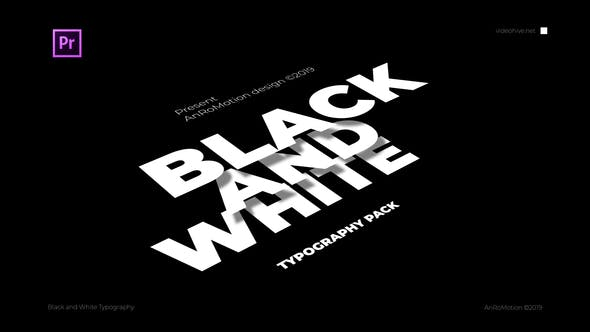 Thumbnail for Black And White - Titles And Typography