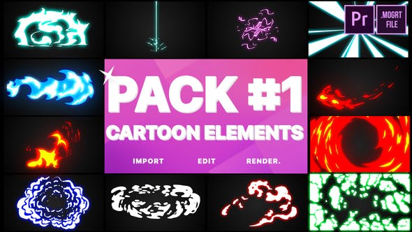 Thumbnail for Flash FX Elements Pack 01 | Premiere Pro MOGRT