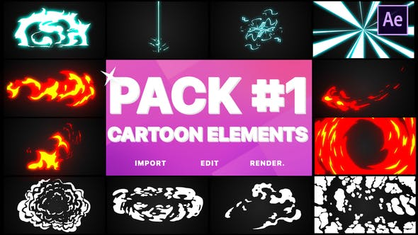 Thumbnail for Flash FX Elements Pack 01 | After Effects