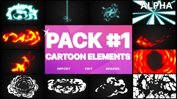 Thumbnail for Flash FX Elements Pack 01 | Motion Graphics Pack