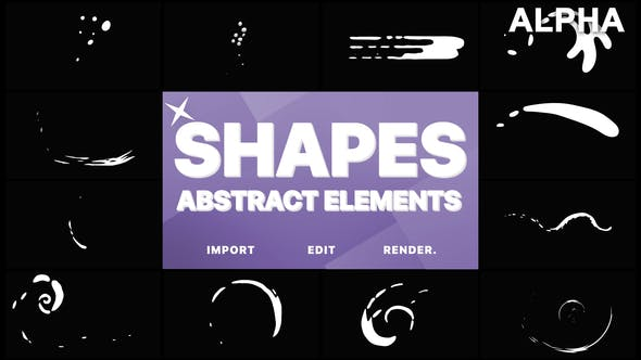 Thumbnail for Funny Abstract Shapes | Motion Graphics Pack