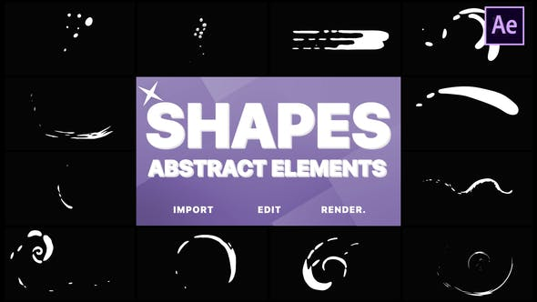 Thumbnail for Funny Abstract Shapes | After Effects