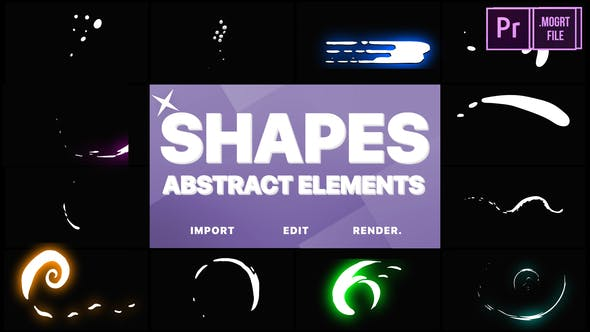 Thumbnail for Funny Abstract Shapes | Premiere Pro MOGRT