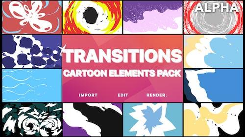Cartoon-Übergänge | Bewegte Grafiken Pack
