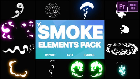 Thumbnail for 2D FX Smoke Elements | Premiere Pro MOGRT