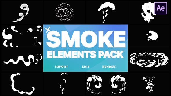 Thumbnail for 2D FX Smoke Elements | After Effects