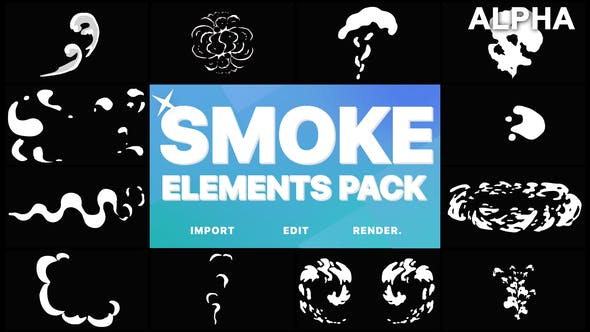 Thumbnail for 2D FX Smoke Elements   Motion Graphics Pack