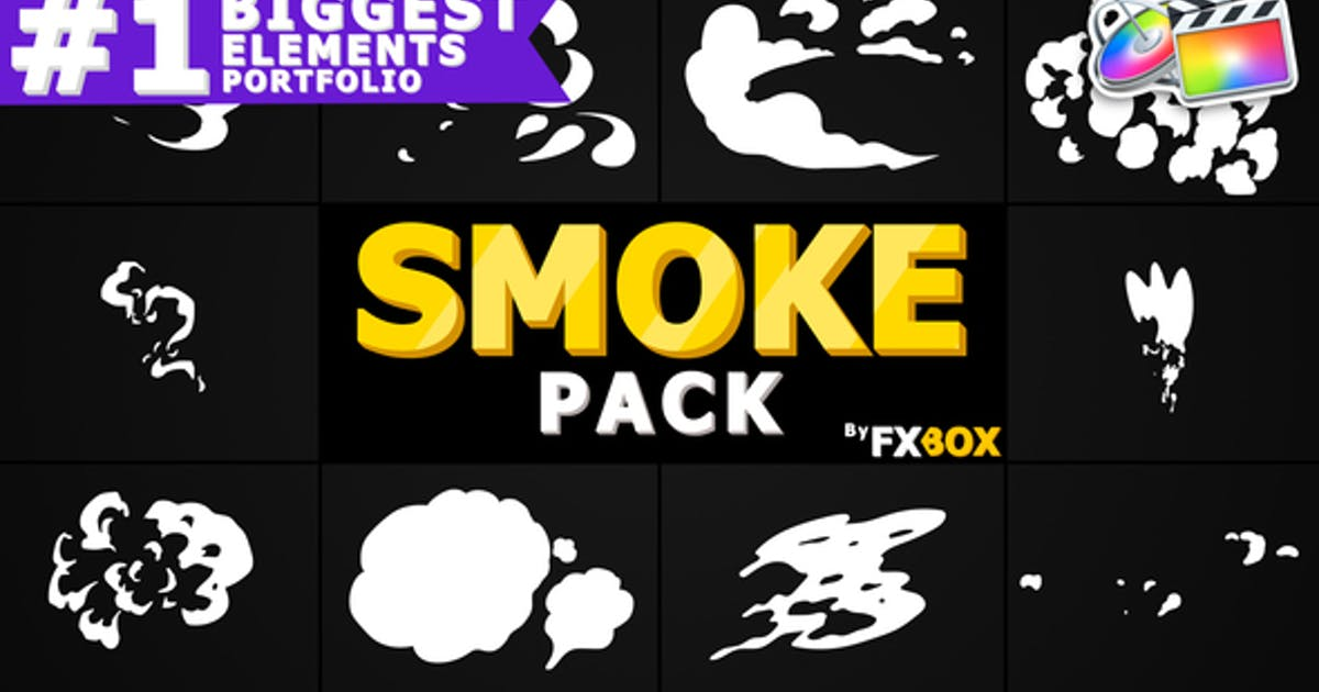Download 2d FX SMOKE Elements | Apple Motion by FlashFXbox