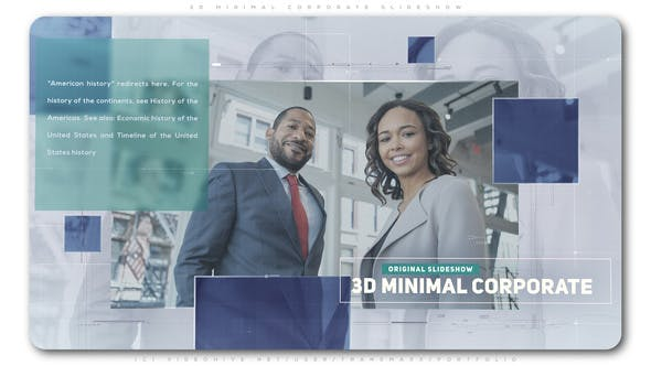 Thumbnail for 3D Minimal Corporate Slideshow