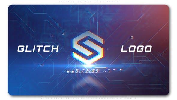 Thumbnail for Digital Glitch Logo Intro
