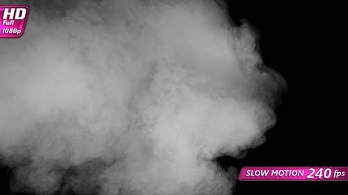 White Smoke Crawls On A Black Screen