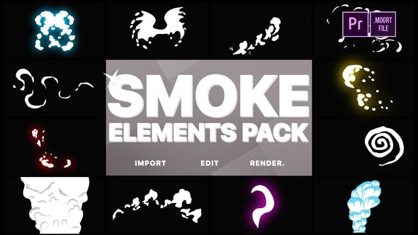 Thumbnail for Funny Smoke Elements | Premiere Pro MOGRT